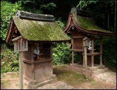 Little Shinto shrines.