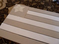 Flag Made From Window Blind Slats
