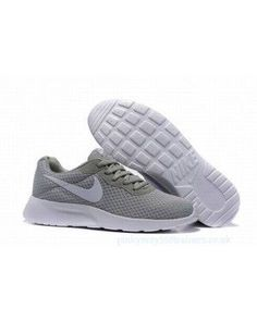 best service 2373e 53faf Mens Nike Tanjun Grey White Running Trainers on We Heart It. Vans ShoesPumas  ShoesAdidas ...