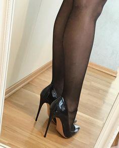 #myshoes #heels #highheels #blacknylons #instaheels