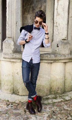 scott t downey - Google Search Red Socks, Black Socks, Dandy, Mode Style, Style Me, Colorful Socks, Costume, Bold Stripes, Menswear