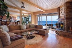 Beach House Interior And Exterior Design Ideas To Inspire You. The house of my dreams! My Living Room, Home And Living, Living Spaces, Cozy Living, Coastal Living, Living Area, Sweet Home, Lounge, My Dream Home