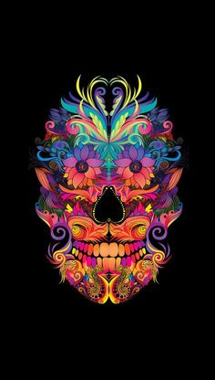 Abstract Mexican Skull Art by DoodleDesignByCB Mexican Skull Art, Wallpaper World, Hipster Wallpaper, Iphone Wallpaper, Foto Transfer, Day Of The Dead Skull, Sugar Skull Art, Sugar Skulls, Candy Skulls