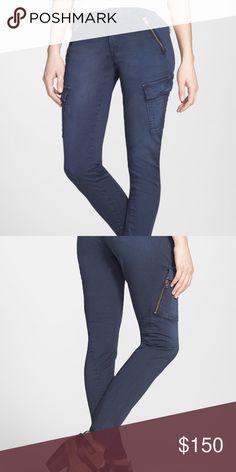 Rag & bone/Jeans Rag & bone/ Jean 'Bowery' Cargo skinny jeans (navy blue). I accept reasonable offers!  rag & bone Jeans Skinny