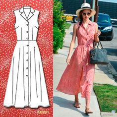 Sew the Look: Breezy long shirtdress. M6891. http://mccallpattern.mccall.com/m6891-products-47891.php?page_id=528 #mccalls