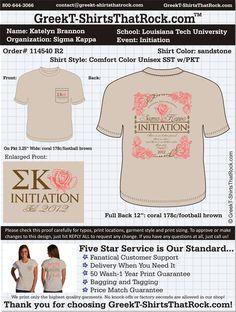 Sigma Kappa Initiation  http://www.greekt-shirtsthatrock.com/..long sleeves or V-Neck