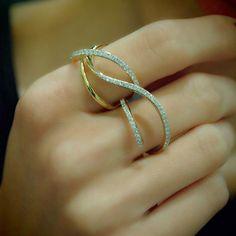 Whiplash Diamond Two Finger Ring - Luxury Beauty - http://amzn.to/2hZFa13