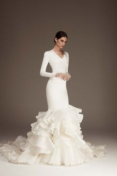 The FashionBrides is the largest online directory dedicated to bridal designers and wedding gowns. Find the gown you always dreamed for a fairy tale wedding. Wedding Goals, Dream Wedding, Evening Gowns With Sleeves, Vogue Wedding, Bridal Collection, One Shoulder Wedding Dress, Tulle, Victoria, Bride