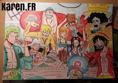 Fan art de l'équipage des Mugiwaras (One Piece)