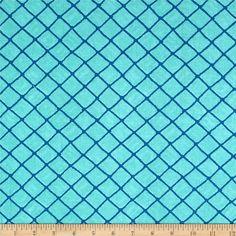 Moda Seascapes Nautical Trellis Caribbean Blue