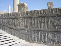 """Persepolis Persepolis literal meaning """"city of Persians"""", was the ceremonial capital of the Achaemenid Empire (ca. 550–330 BC). Persepolis is situated 70 km northeast of city of Shiraz in the Fars Province in Iran. The earliest remains of Persepolis date from around 515 BC. It exemplifies the Achaemenid style of architecture. UNESCO declared the citadel of Persepolis a World Heritage Site in 1979."""