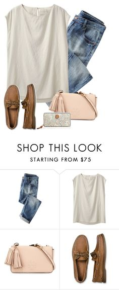"""""""Tort Burch and Sperry"""" by preppygirlusa ❤ liked on Polyvore featuring La Garçonne Moderne, Tory Burch, Sperry Top-Sider, women's clothing, women, female, woman, misses and juniors"""