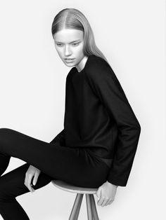 Sleek Black Tailoring - chic minimalist style, minimal fashion // NON