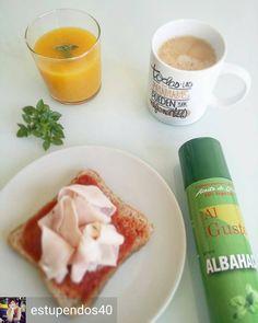 @Regrann from @estupendos40 -  Nutritivo desayuno de miércoles con mucho aroma a albahaca   Zumo de naranja kiwi y albahaca de mi mesa de cultivo mygarden.center  Café largo con chorrito de leche 0%  Rebanada de pan de molde integral s/azúcares añadidos #mercadona con tomatito  pulverizada de AOVE sabor albahaca #algusto y pechuga de pavo reducida en sal  FELIZ DÍA! #Regrann #dietbox
