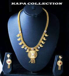 Costume Jewellery 22k Real Looking Gold Black Beads Necklace Chain Kapa Jewelry Jewellery & Watches