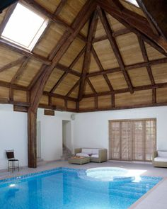 *Nice for outdoor barn or warehouse Replica Beams from Oakleaf look great used in swimming pool buildings