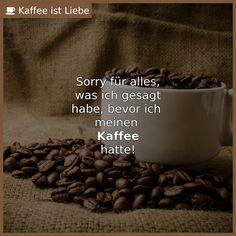 Sorry für alles,  was ich gesagt  habe, bevor ich   meinen   <b>Kaffee</b>  hatte!