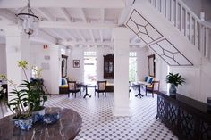 Clove Hall in Penang offers colonial charm in a boutique setting British Colonial Decor, Flur Design, Indoor Outdoor Living, Outdoor Patios, Outdoor Rooms, Hallway Designs, Colonial Architecture, Indochine, Plantation Homes