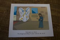 """Sample craft for 2s, Week 1, """"Mary and the Angel"""" Christmas Jesus, Church Nursery, Bible Crafts, Special Delivery, Toddler Crafts, Sunday School, Curriculum, Nativity, Toddlers"""