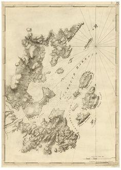 falmouth harbor maine 1781 map revolutionary war survey by british navy des barres v3