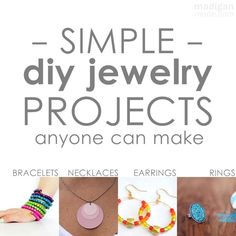 Tons of ideas here! Over 50 simple DIY jewelry projects.