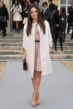 Mila Kunis at Paris Fashion Week AW12