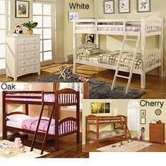 @Overstock - This twin-size wooden bunk bed is a practical solution when your kids need to share a room. The top bunk has two guardrails for added safety, while an angled ladder offers easy access. Made of solid wood, its slats foundation provides sturdy support.http://www.overstock.com/Home-Garden/Firestone-Twin-size-Bunk-Bed/6231205/product.html?CID=214117 $586.04