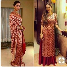 Amazing Silk Gown Design Ideas from Old Darees - Indian Fashion Ideas Sari Dress, Anarkali Dress, Lehenga, Saree Blouse, Saree Gown, Frock Dress, Sabyasachi, Kurti Designs Party Wear, Kurta Designs