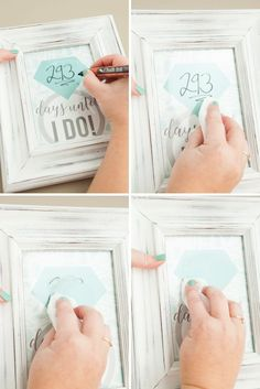 Adorable DIY wedding countdown sign, fill in the days with a Chalk Ink marker!