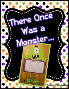 There Once Was a Monster {Craftivity}...can take a pic of child making a scary face for Halloween decor craft