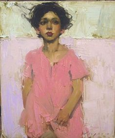 Malcolm Liepke - 'Little Pink Jumper' - Telluride Gallery of Fine Art