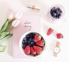 blueberries & strawberries
