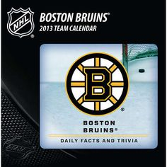 Boston Bruins Desk Calendar: When you're a die-hard Bruins fan, there is no off-season! Now you can follow and celebrate the Boston Bruins and the NHL year round. Daily tear-off pages provide a continual dose of team trivia questions and facts for the fan that just can't get enough.  $14.99  http://www.calendars.com/Hockey/Boston-Bruins-2013-Desk-Calendar/prod201300001537/?categoryId=cat00513=cat00513#