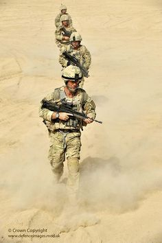 Royal Marines from Bravo Company 40 Cdo Patrol in Sangin, Afghanistan by Defence Images.