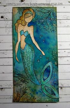 I could talk underwater.if I had a mouth! by susie australia - Cards and Paper Crafts at Splitcoaststampers Prima Paper Dolls, Prima Doll Stamps, Real Mermaids, Mermaids And Mermen, Fantasy Mermaids, Mermaid Art, Mermaid Paintings, Tattoo Mermaid, Vintage Mermaid