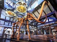 A woolly mammoth skeleton greets visitors at Top of the Rock, a new addition to the Big Cedar Lodge resort in Ridgedale, Mo.