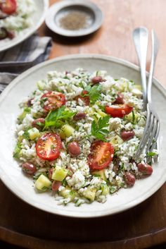 Summer vegan meal, so tasteful ! Healthy Eating Recipes, Healthy Snacks, Cooking Recipes, Canada Food Guide, Lactose Free Recipes, Free Meal Plans, Rice Salad, Rice Dishes, Cobb Salad