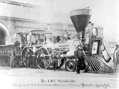 Abraham Lincoln's funeral train, 1865.