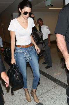 Kendall Jenner leaving LAX airport. See all of the model's best looks.