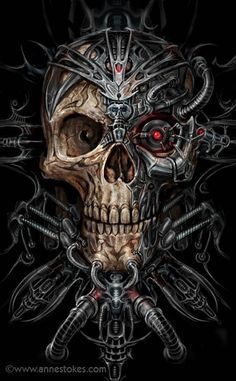 Bio Skull by Anne Stokes - combines Gothic and scifi themes (two of my favourites)