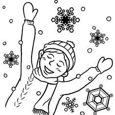 Snowy Day Coloring Page | Worksheets, Activities and Color activities