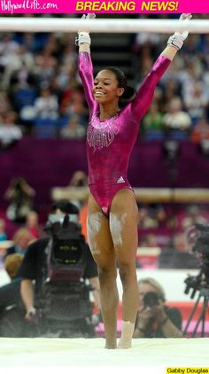 Gabby Douglas Takes Gold In Women's All-Around Gabby Douglas, Romantic Pictures, Love Photos, All Around Gymnastics, Gymnastics Posters, Simone Biles, Olympic Team, Couples Images, Hollywood Life
