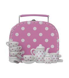 koffertje met theeserviesje - HEMA