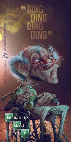 Caricatures Breaking Bad Illustration : Caricatures Breaking Bad par Anthony Geoffroy
