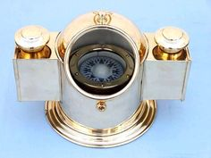 Gimballed Binnacle Compass Vintage Compass, Wooden Boats, Nautical, Antiques, Sailing, Objects, Accessories, Tools, Beautiful