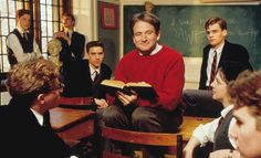 Dead Poets Society , 1989. We don't read and write poetry because it's cute.We read and write poetry because we are members of the human race. And the human race is filled with passion. And medicine, law, business, engineering, these are noble pursuits and necessary to sustain life. But poetry, beauty, romance, love, these are what we stay alive for. Robin Williams: A Life In Pictures