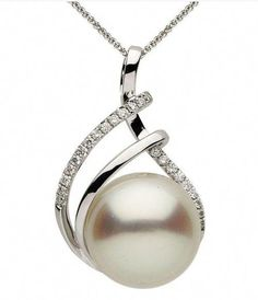 MMC Womens Necklaces Pendants Big Cultured Pearl Silver Jewelry