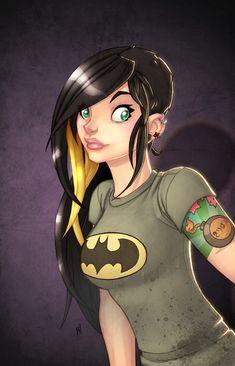 Mike Henry aka Zatransis' awesome Geek-Girl…