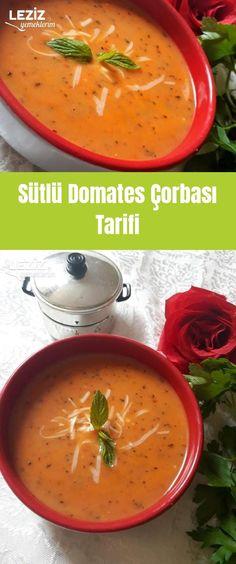 Sütlü Domates Çorbası Tarifi Turkish Recipes, Ethnic Recipes, Homemade Beauty Products, Thai Red Curry, Salsa, Health Fitness, Yummy Food, Soups, Turkish Cuisine