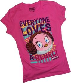 Angry Birds Star Wars Everyone Loves a Rebel T-Shirt - for teens and adults